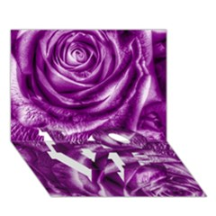 Gorgeous Roses,purple  LOVE Bottom 3D Greeting Card (7x5)