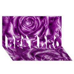 Gorgeous Roses,purple  BEST BRO 3D Greeting Card (8x4)