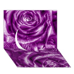Gorgeous Roses,purple  Circle 3D Greeting Card (7x5)