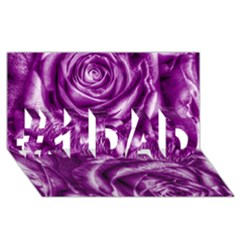 Gorgeous Roses,purple  #1 DAD 3D Greeting Card (8x4)