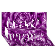 Gorgeous Roses,purple  Best Wish 3d Greeting Card (8x4)