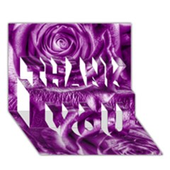 Gorgeous Roses,purple  THANK YOU 3D Greeting Card (7x5)