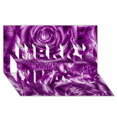 Gorgeous Roses,purple  Merry Xmas 3D Greeting Card (8x4)