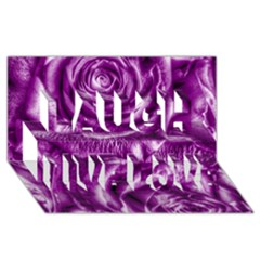Gorgeous Roses,purple  Laugh Live Love 3d Greeting Card (8x4)