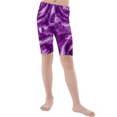 Gorgeous Roses,purple  Kid s swimwear