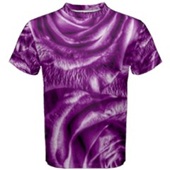 Gorgeous Roses,purple  Men s Cotton Tees