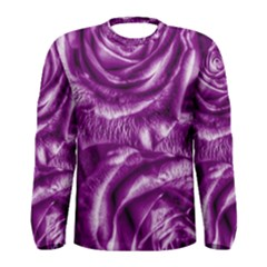 Gorgeous Roses,purple  Men s Long Sleeve T-shirts