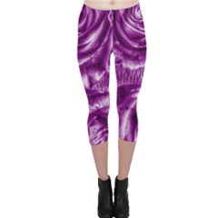 Gorgeous Roses,purple  Capri Leggings