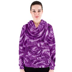 Gorgeous Roses,purple  Women s Zipper Hoodies