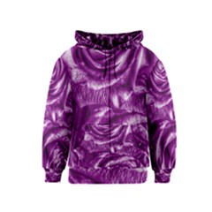 Gorgeous Roses,purple  Kids Zipper Hoodies