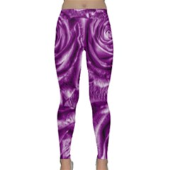 Gorgeous Roses,purple  Yoga Leggings