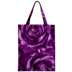 Gorgeous Roses,purple  Zipper Classic Tote Bags