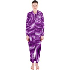 Gorgeous Roses,purple  Hooded Jumpsuit (Ladies)
