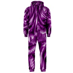 Gorgeous Roses,purple  Hooded Jumpsuit (Men)