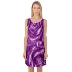 Gorgeous Roses,purple  Sleeveless Satin Nightdresses