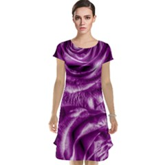 Gorgeous Roses,purple  Cap Sleeve Nightdresses