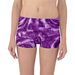 Gorgeous Roses,purple  Reversible Boyleg Bikini Bottoms