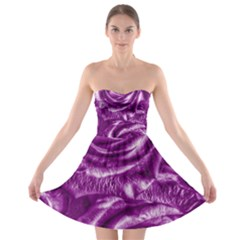 Gorgeous Roses,purple  Strapless Bra Top Dress