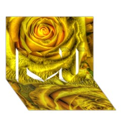 Gorgeous Roses, Yellow  I Love You 3D Greeting Card (7x5)