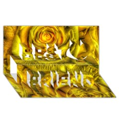 Gorgeous Roses, Yellow  Best Friends 3D Greeting Card (8x4)