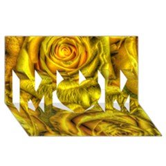 Gorgeous Roses, Yellow  MOM 3D Greeting Card (8x4)