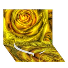 Gorgeous Roses, Yellow  Heart Bottom 3D Greeting Card (7x5)