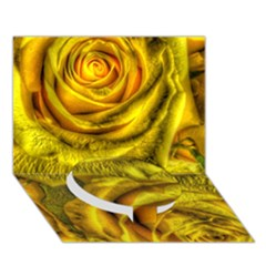 Gorgeous Roses, Yellow  Circle Bottom 3D Greeting Card (7x5)