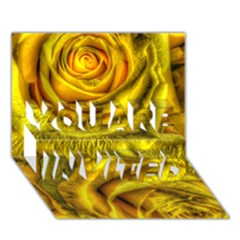 Gorgeous Roses, Yellow  YOU ARE INVITED 3D Greeting Card (7x5)