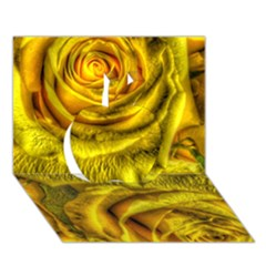 Gorgeous Roses, Yellow  Apple 3d Greeting Card (7x5)