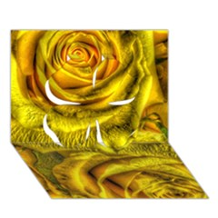 Gorgeous Roses, Yellow  Clover 3D Greeting Card (7x5)
