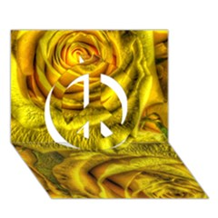Gorgeous Roses, Yellow  Peace Sign 3d Greeting Card (7x5)