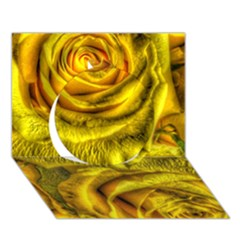 Gorgeous Roses, Yellow  Circle 3D Greeting Card (7x5)