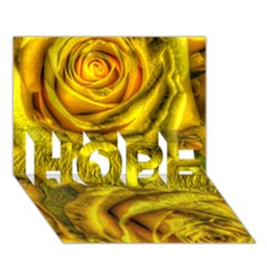 Gorgeous Roses, Yellow  HOPE 3D Greeting Card (7x5)