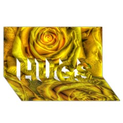 Gorgeous Roses, Yellow  HUGS 3D Greeting Card (8x4)