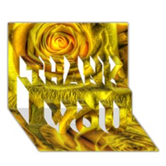 Gorgeous Roses, Yellow  Thank You 3d Greeting Card (7x5)