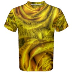 Gorgeous Roses, Yellow  Men s Cotton Tees