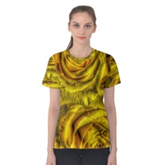 Gorgeous Roses, Yellow  Women s Cotton Tees