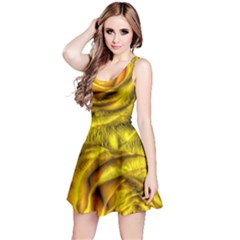 Gorgeous Roses, Yellow  Reversible Sleeveless Dresses