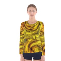 Gorgeous Roses, Yellow  Women s Long Sleeve T-shirts