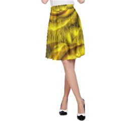 Gorgeous Roses, Yellow  A-Line Skirts