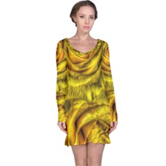 Gorgeous Roses, Yellow  Long Sleeve Nightdresses