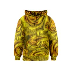 Gorgeous Roses, Yellow  Kids Zipper Hoodies