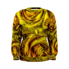 Gorgeous Roses, Yellow  Women s Sweatshirts