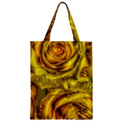 Gorgeous Roses, Yellow  Zipper Classic Tote Bags