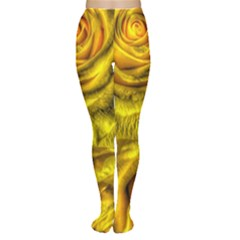 Gorgeous Roses, Yellow  Women s Tights