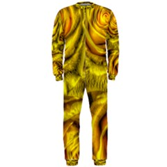 Gorgeous Roses, Yellow  OnePiece Jumpsuit (Men)