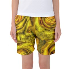 Gorgeous Roses, Yellow  Women s Basketball Shorts