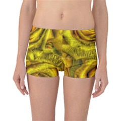 Gorgeous Roses, Yellow  Boyleg Bikini Bottoms