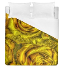 Gorgeous Roses, Yellow  Duvet Cover Single Side (Full/Queen Size)
