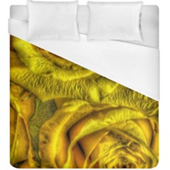 Gorgeous Roses, Yellow  Duvet Cover Single Side (KingSize)